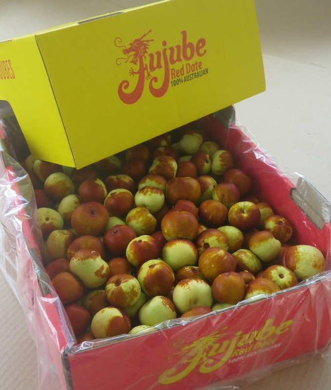 Box of fresh Chico jujubes