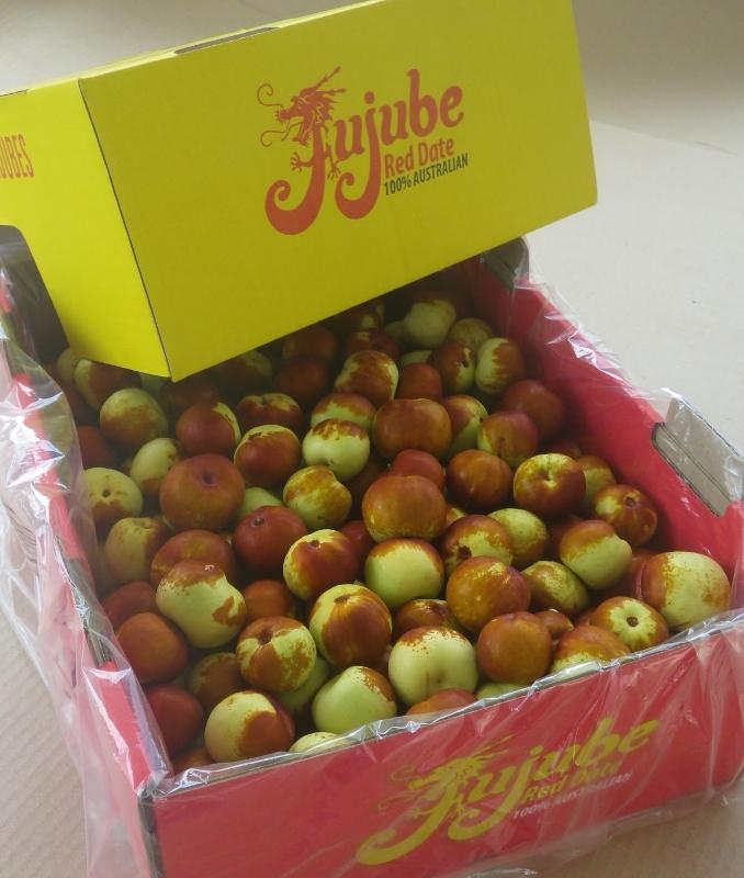 Box of fresh Chico jujubes